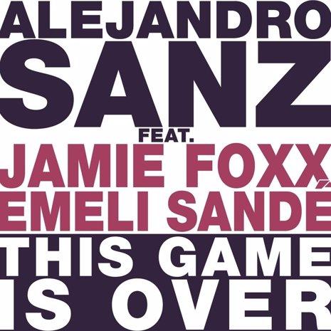 Alejandro Sanz con Jamie Foxx y Emeli Sandé