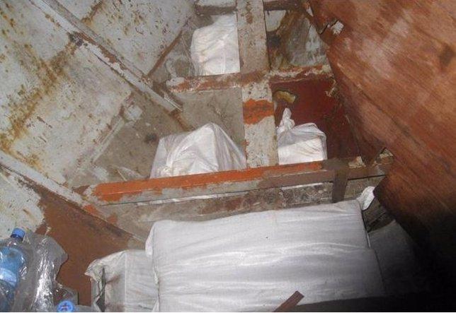 Fardos de cocaína encontrados por la Agencia Tributaria
