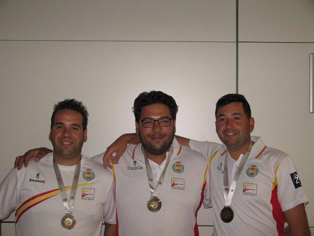 Antonio Bailón, Alberto Fernández y Jesús Serrano, tiradores olímpicos