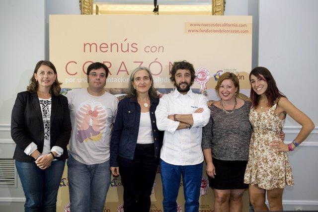 Imagen de los blogueros participantes en 'Menús con Corazón'