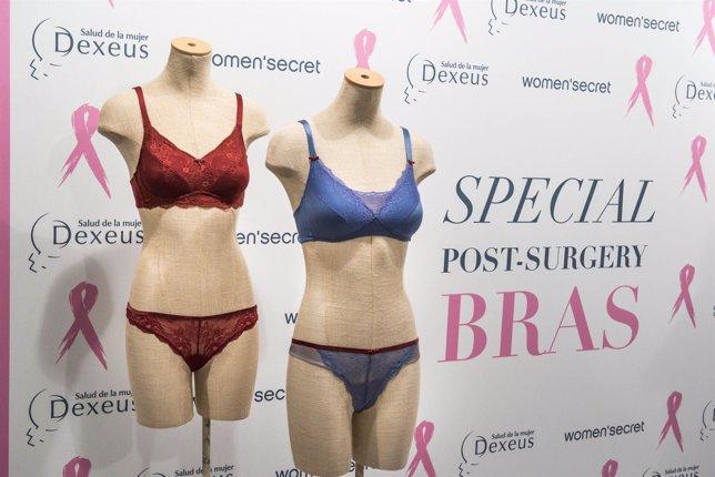 Ropa interior para mujeres con cáncer de mama de Dexeus y Woman'secret