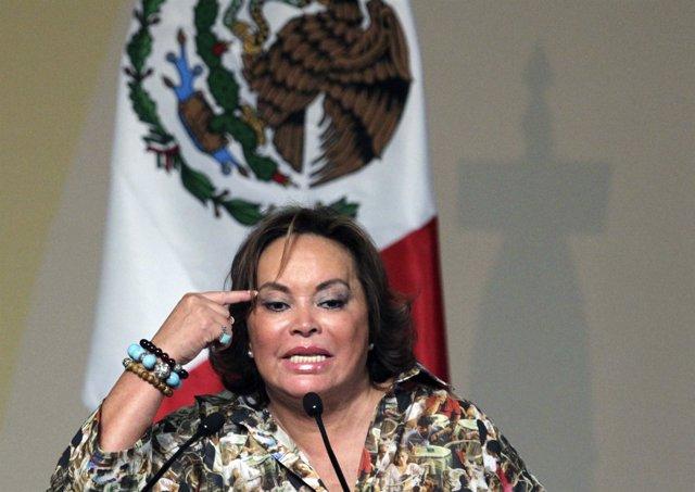 Elba Esther Gordillo, presidenta vitalicia del Sindicato Nacional de los Trabaja
