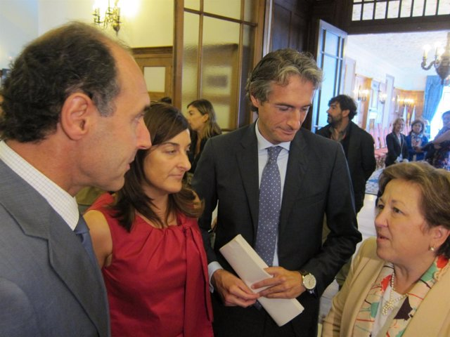 Pilar Farjas, Ignacio Diego, María José Sáenz de Buruaga e Íñigo de la Serna
