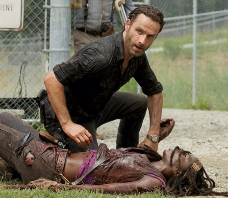 Andrew Lincoln (Rick Grimes) en The Walking Dead