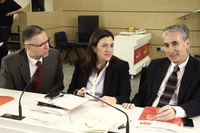 Marcelino Iglesias, Soraya Rodríguez y Ramón Jáuregui