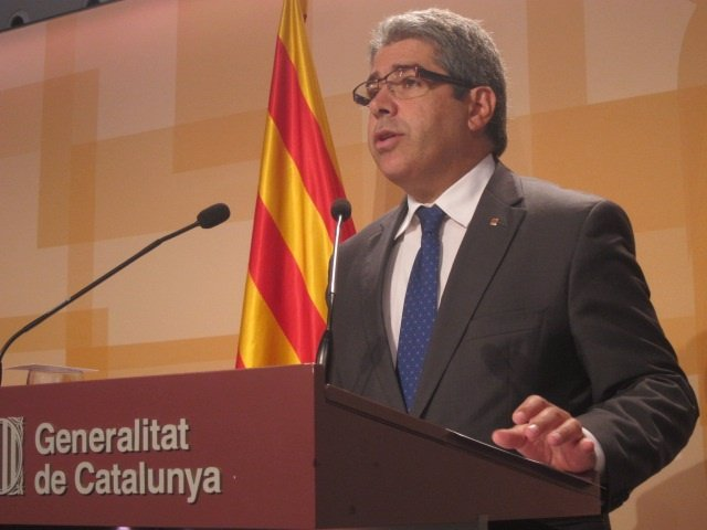 El conseller F.Homs, tras el Consell Executiu