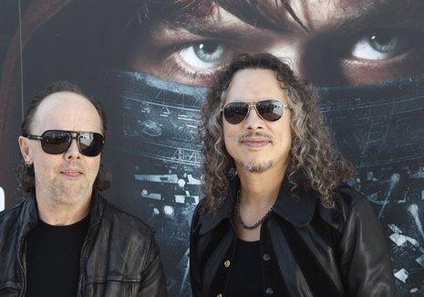 Lars Ulrich y Kirk Hammet de Metallica en Madrid