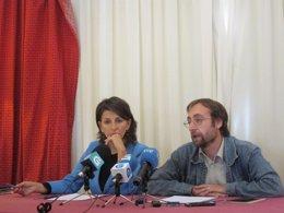Yolanda Díaz y Xoán Hermida, en rueda de prensa