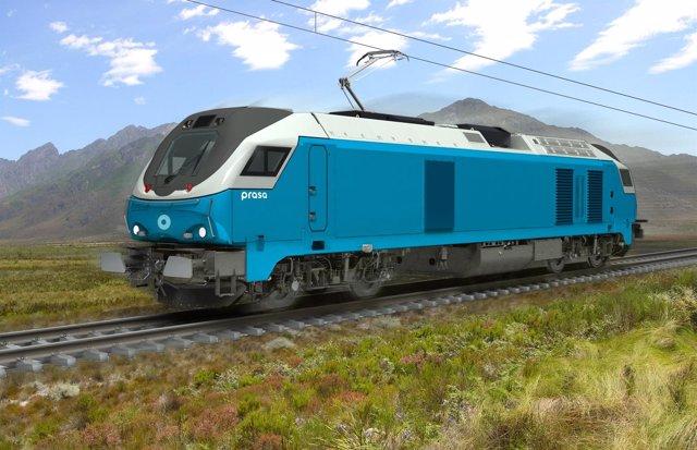 Locomotora que Vossloh suministrará a Sudáfrica