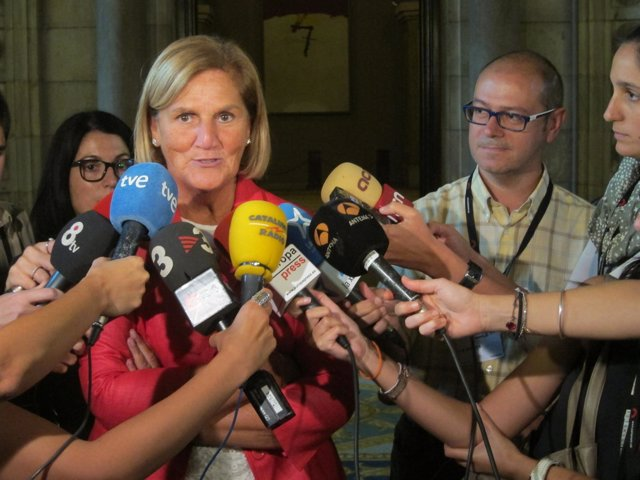 Núria de Gispert, en el Parlament