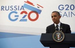 El presidente de Estados Unidos, Barack Obama, durante una conferencia de prensa