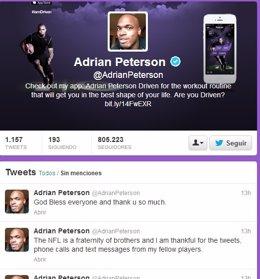 Twitter de Adrian Peterson