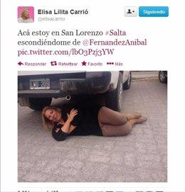 Twitter de la diputada Elisa Carrió