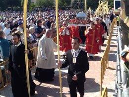 Reliquias en la beatificación de 522 mártires del s.XX, en Tarragona