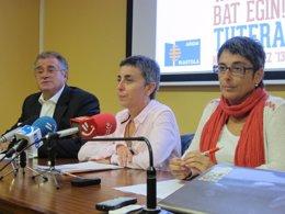Pello Mariñelarena, Susana Suárez, y Anika Lujan.
