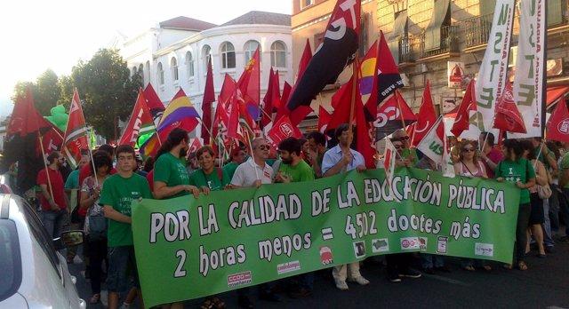 Manifestación de la Plataforma Andaluza en Defensa de la Educación Pública