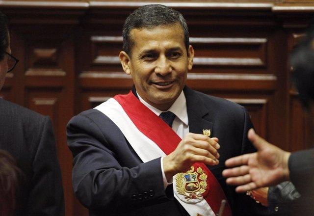 Presidente de Perú, Ollanta Humala, en el Congreso en Lima