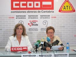 Portavoces de CCOO  y ATI