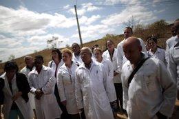 Doctores cubanos inscritos al programa de salud brasileño 'Más Médicos'.