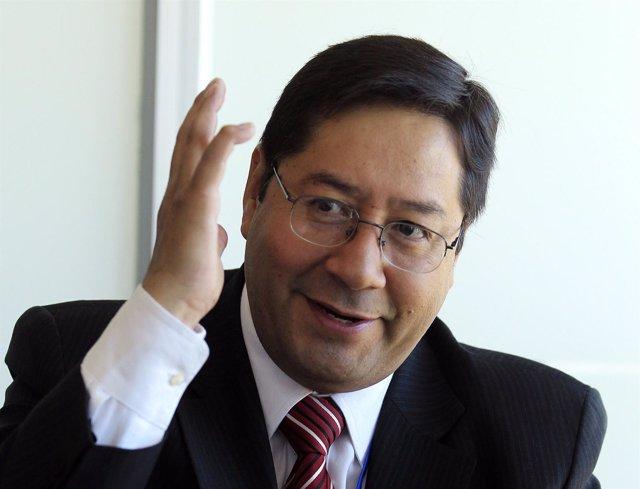El ministro de Economía de Bolivia, Luis Arce
