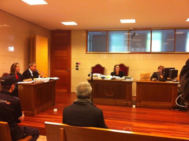 Leonardo Patterson en el juicio en Santiago