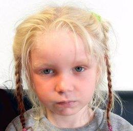 La niña María, apodada el' 'ángel rubio'