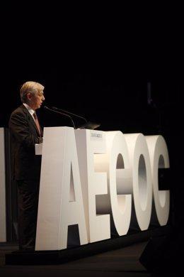 El presidente de Aecoc, Francisco Javier Campo, durante el congreso.