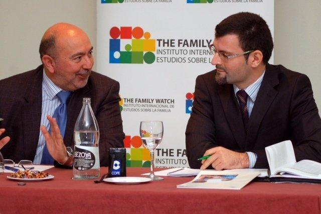 Ignacio Socias y Daniel Molinuevo en la presentación de los informes de Eurofund