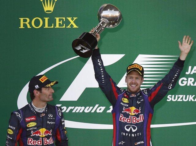 Sebastian Vettel Mark Webber Gran Premio Japón