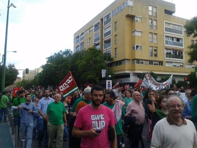 Manifestación en Sevilla contra la Lomce