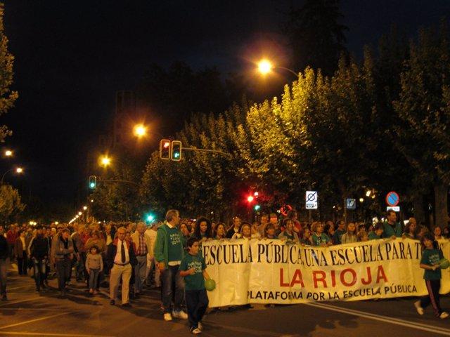 Huelga educativa en Logroño