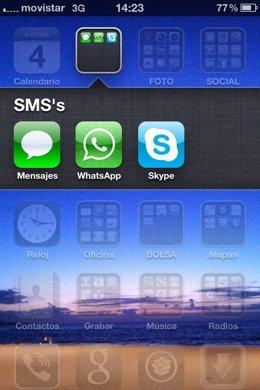 Pantallazo De Un Iphone Con La Aplicación Whatsapp