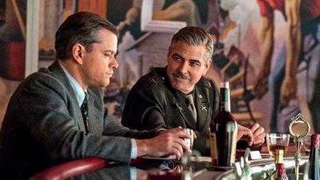 Clooney y Damon en el rodaje