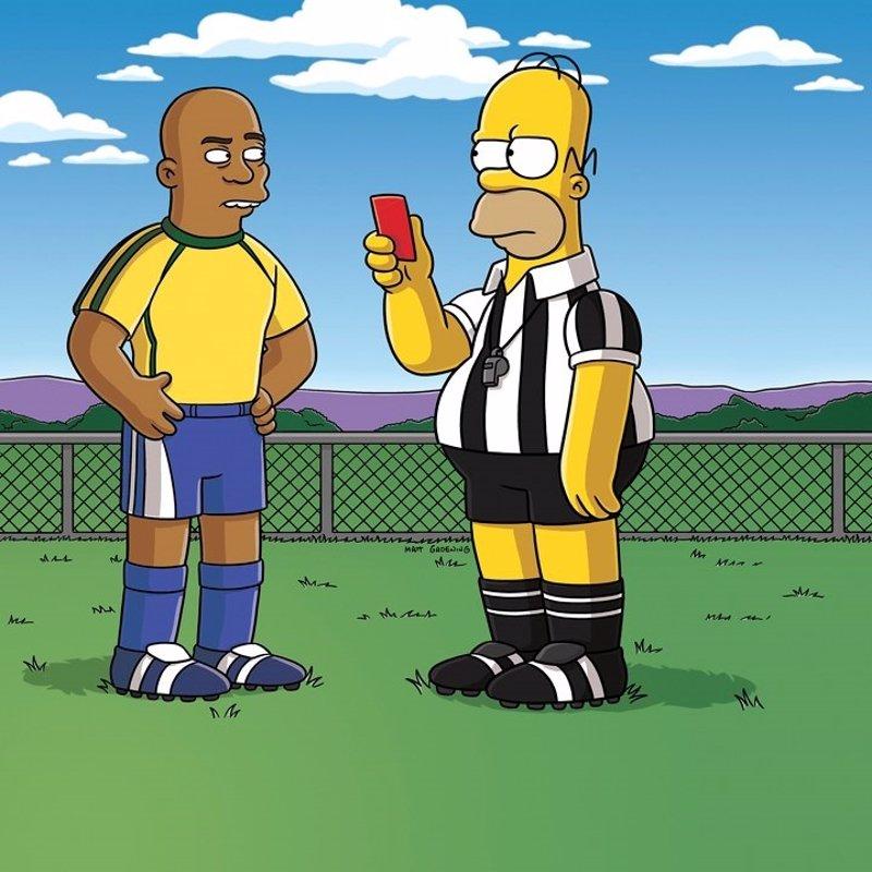 Homer Simpson arbitrará el Mundial de Brasil