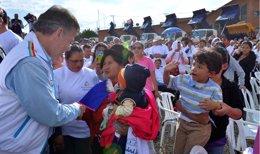 Presidente de Colombia, Santos, en visita a Cundinamarca