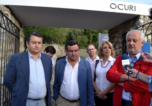 El presidente de la Diputación, José Loaiza, en Ubrique