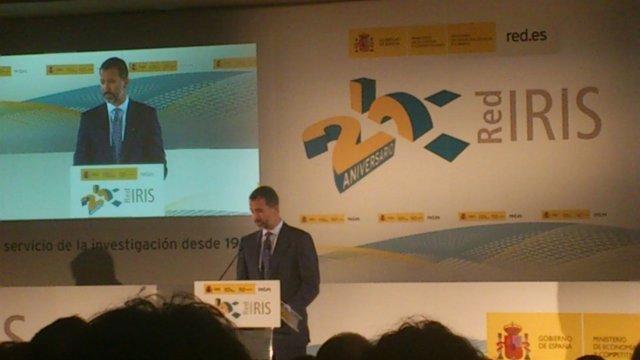 El Príncipe de Asturias en el 25º de la RedIRIS