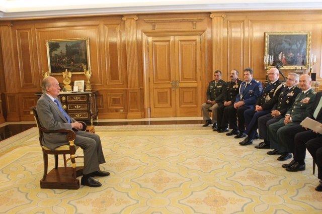 El Rey, con las gendarmerías euromediterráneas