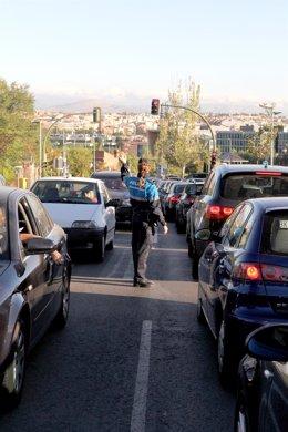 Tráfico en La Moraleja
