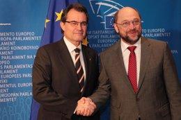 Artur Mas Y  M.Schulz