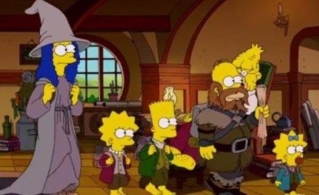 Los Simpson rinden homenaje a la obra de Tolkien