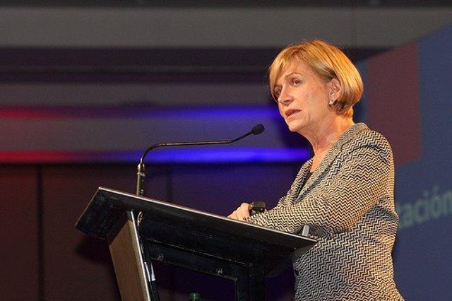 La candidata del Gobierno a la Presidencia de Chile, Evelyn Matthei.