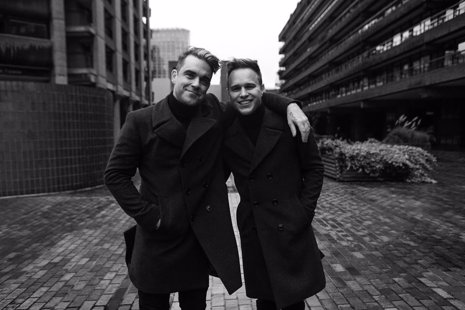 Robbie Williams y Olly Murs