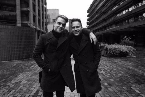 Robbie Williams y Olly Murs