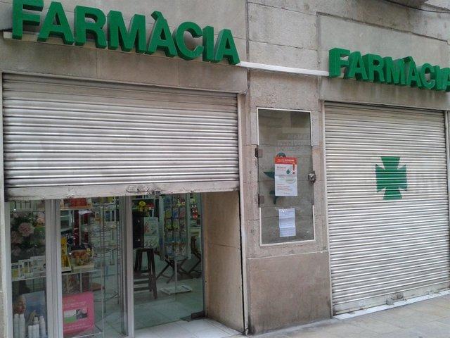 Cierre de farmacias en Catalunya
