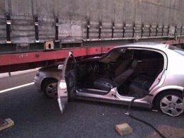 Aparatoso accidente en la M-45