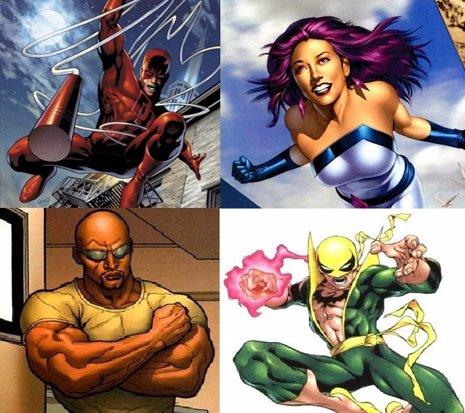 Netflix hará cuatro series sobre superhéroes de Marvel