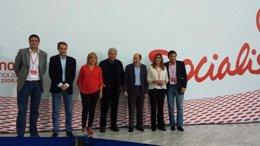 Rubalcaba y González, juntos en la conferencia política del PSOE