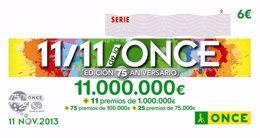 SORTEO EXTRAORDINARIO 11/11 DE LA ONCE