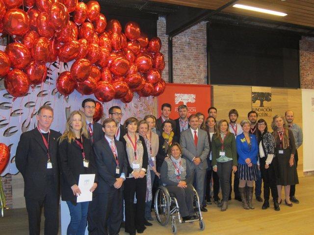 Sáenz de Miera con las ONG y trabajadores de la IV edición de Talento Solidario
